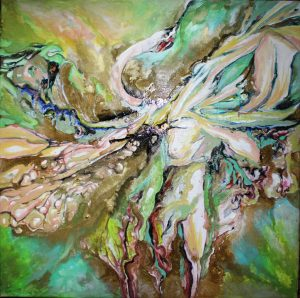 flight of fantasy 50-50cm oil canvas