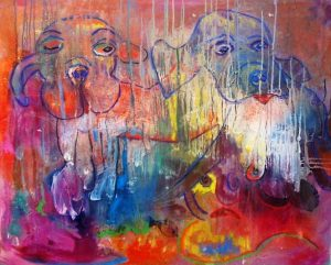 Ulli Ströbitzer - Hundewetter- it´s raining cats and dogs -cattivo tempo